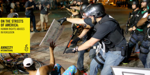 Ferguson lady on ground  with report title 500x250
