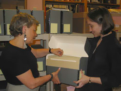 Ellen Moore, AIUSA staff liaison with Columbia University and Catherine Carson is the new archivist for CHRDR who is currently working on the AIUSA Archives.