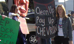 Activists in San Francisco and Berkely also held protests on the day of Chevron's annual meeting