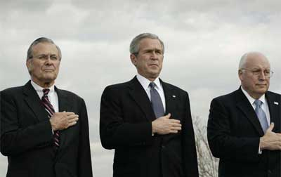 Rumsfeld, Bush and Cheyney
