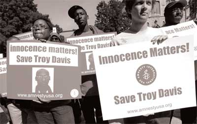 Protest in support of Troy Davis