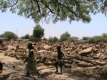 Demolished houses in Chagoua 2, N'djamena, Chad
