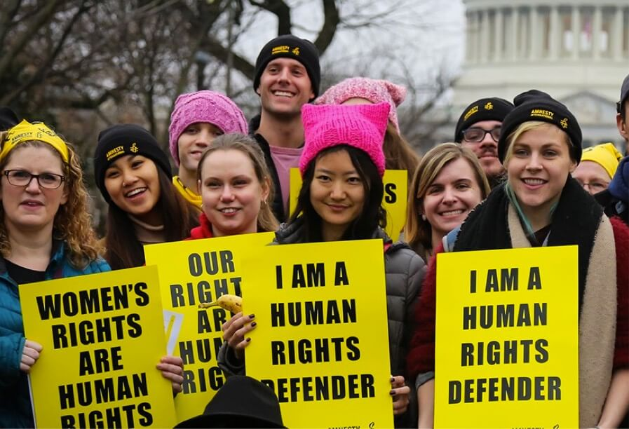 Amnesty Activists at the Women's March 2017