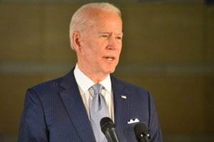 Former U.S. Vice President Joe Biden delivers remarks at the National Constitution Center in Philadelphia, PA, United States