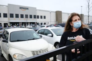 Amazon Workers At Staten Island Warehouse Strike Over Coronavirus Protection